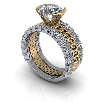 Unique Engagement Ring - Wedding Bands - Insieme™ Bridal Stackables - Customize Your Ring