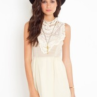 Emme Crochet Dress - Cream