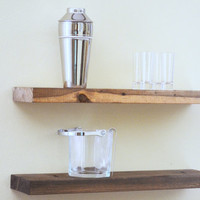 "Floating Shelf  24"" - wood floating shelves, decorative shelf, display shelf"