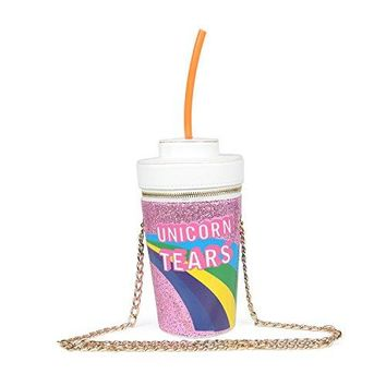 Kuang Unicorn Tears Womens Fountain Drink Crossbody Bag Cola Cup Shape Chain Purse