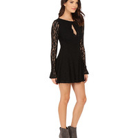 Free People Teen Witch Lace Dress Black - 6pm.com