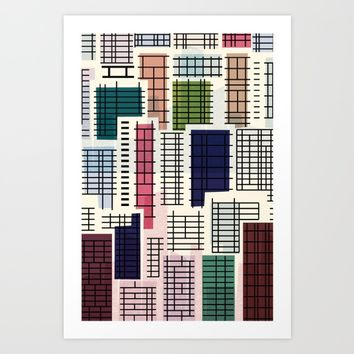 Crowded houses No.2 Art Print by inkycubans