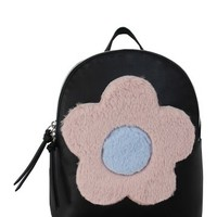 T-Shirt & Jeans | Plush Faux Fur Floral Backpack | Nordstrom Rack