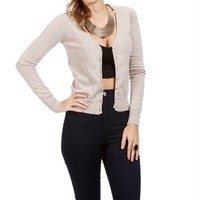 Oatmeal Long Sleeve Lightweight Cardigan