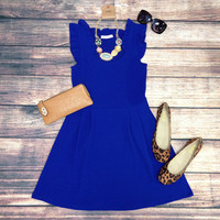 THE JACKIE DRESS IN ROYAL BLUE – LaRue Chic Boutique