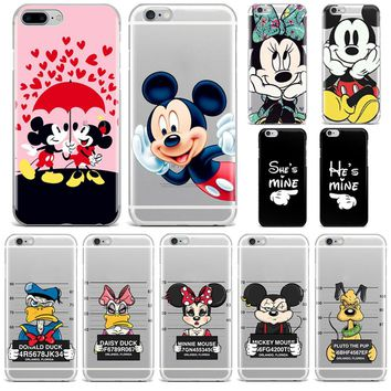 Gangster Mickey Minnie Mouse Bow Duck gifts Phone Case For huawei P9 P10 P8 Lite honor 10 mate 10 lite Soft TPU Silicone Cover