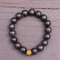 """Round 12mm """"Chocolate Brown"""" Bracelet (Classics Collection)"""