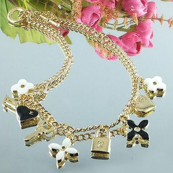8DESS Louis Vuitton Woman Fashion Accessories Fine Jewelry Chain Necklace