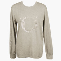 L/S Tee Grey Marle Paper Moon - Lonely Label