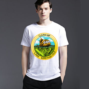 Summer Cotton Slim Men's Fashion Cartoons Strong Character Round-neck Casual Tee Short Sleeve T-shirts = 6451349187