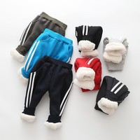 Winter new Korean version of the childrens pants in children pull super warm double thick plus cashmere warm pants