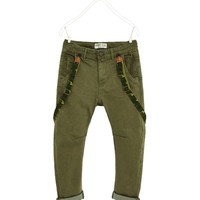 LOW-RISE TROUSERS WITH BRACES