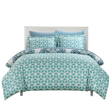 Ibiza Majorca Medallion Reversible Duvet Cover Set King, Queen & Twin Green