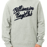 The Embroidered Script Hoodie in Heather Grey & Black