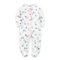 carter's® Floral Snap-Front Footie in White