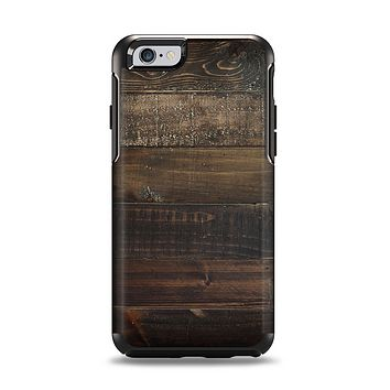 The Dark Wooden Worn Planks Apple iPhone 6 Otterbox Symmetry Case Skin Set