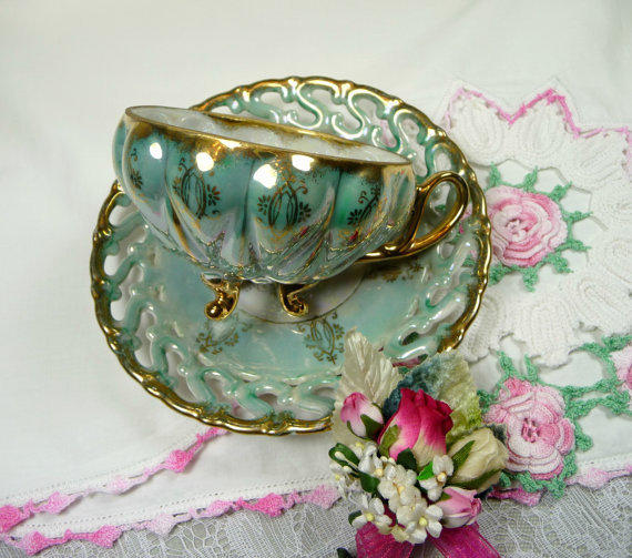 Vintage Tea Cup And Saucer Royal Sealy From Meaicp On Etsy