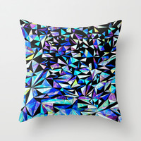 Geo Glass No.1 Throw Pillow by House Of Jennifer
