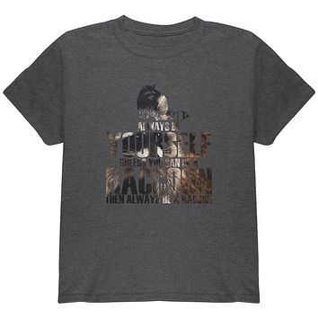 Always Be Yourself Raccoon Photo Youth T Shirt
