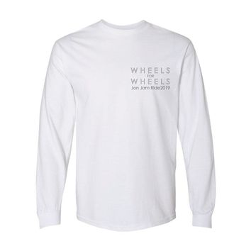 Jon Jam Ride Adult Long Sleeve Tee White