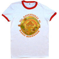 The Adventures of Magic Mushroom Ringer Shirt