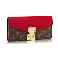 Louis Vuitton Monogram Canvas Pallas Wallet M58414 Cherry Made in France