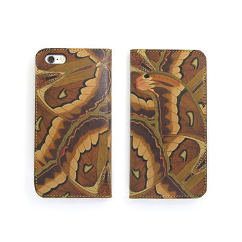 Leather Folio Phone Case - The Atlas Moth