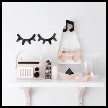 Newest 18 Style Free Shipping Ins wooden Craft Wooden Cross Rabbit Cloud Batman Hook On Wall Decorate In Children's Room