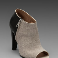 See By Chloe Peep Toe Bootie in Black/White from REVOLVEclothing.com