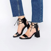 ASOS TOTALLY Lace Up Heeled Sandals