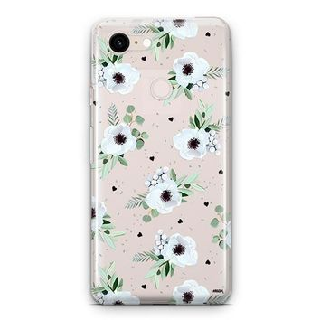 White Blossom Google Pixel 3 Clear Case