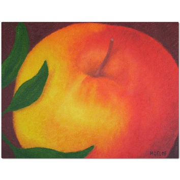 Apple - Placemat of Food Oil Paint Fine Art