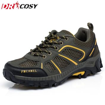 Men's Mesh Comfortable Casual Shoes Lace-up Breathable Men Shoes Super Light Cross-Country Wade Lovers Couples Trekking Shoes