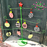 PERSONALIZED Metal Christmas Ornaments - Decor - Perfect for Gift - Christmas