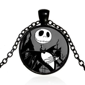 12 PCS  Nightmare Before Christmas   Pendant Necklace Women/Mens Necklace Neck  Vintage Collares Halloween Jewelry ng-22