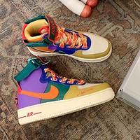 Nike Air Force 1 AF1 2020 New High-Top Colorblock Sneakers Shoes