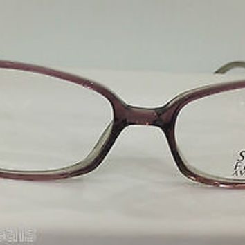 NEW AUTHENTIC SAKS FIFTH AVE S5A 157 COL FG8 PURPLE PLASTIC EYEGLASSES FRAME 52M