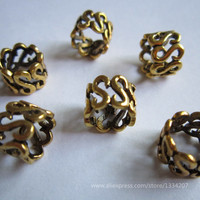 Free Shipping 20Pcs/Lot  hair Golden Plated braid dreadlock beads cuffs clips approx 8mm hole