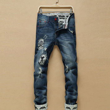 Fashion Men Pants Men's Fashion Korean Jeans [6528533315]