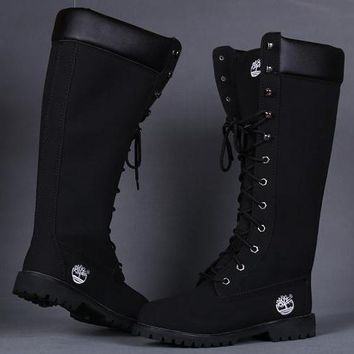 Timberland Women Leather Lace-Up Waterproof Boots Shoes-9