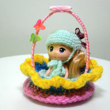 Easter Basket / Easter decorations / Crochet Handmade Basket /Flower Girls Basket / Crochet bowl /Knitted basket /Easter Basket personalized