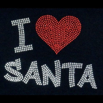 Christmas iron on heat transfer - Santa Christmas hotfix rhinestone iron on transfers for shirts tees