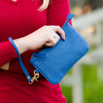 Royal Blue Mini Wristlet