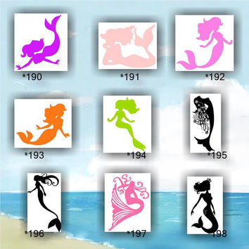 MERMAID vinyl decals - 190-198 - personalized vinyl sticker - car window decal - wall sticker - wall decal