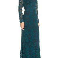 Tadashi Shoji Embroidered Lace Gown   Nordstrom