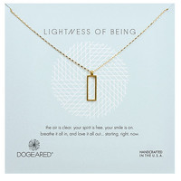 Dogeared Lightness of Being Rectangle Pendant Necklace | Dillards