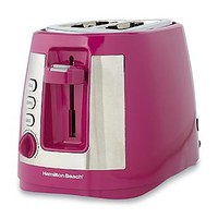 Hamilton Beach Ensemble Extra Wide Pink 2-Slice Toaster - Appliances - Small Kitchen Appliances - Toasters