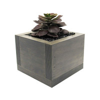 Planter Box, Mini Planter, Succulent Planter, Wood Planter, Modern Planter, Succulent Gift, Gray Planter, Indoor Planter, Rustic Planter