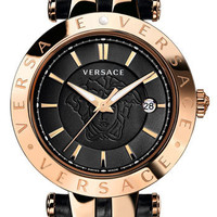 Versace 'V-Race' Leather Strap Watch, 42mm | Nordstrom