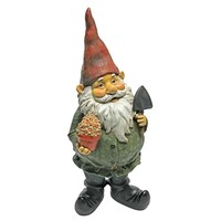 SheilaShrubs.com: Dagobert With Gifts Garden Gnome Statue QM211261 by Design Toscano: Gnomes